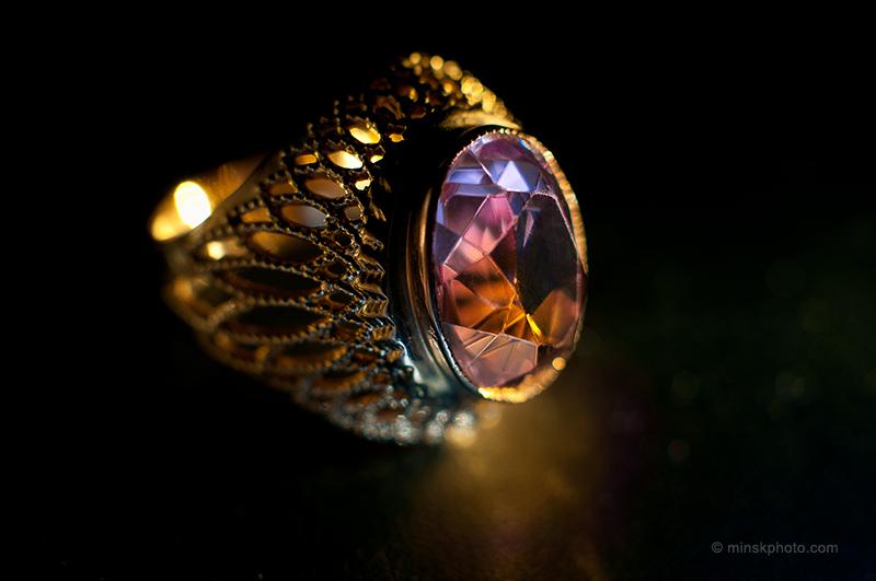 Старое кольцо с аметистом