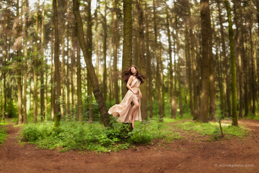 Brigid of Tuatha Dé Danann stepping out of the tree tethered to Tír Na NÓg